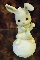 "Precious Moments -# 183792 -""SNOWBUNNY LOVES YOU LIKE I DO"" Bunny -FIGURINE-NIB"