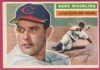 1956 Topps # 163 Gene Woodling - Indians (EX)