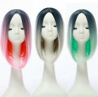 Heat Resistant Synthetic Ombre Wigs Long Straight Bob Cosplay Party Wigs Wig
