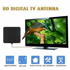 HD Digital HDTV Fox Indoor TV Antenna Amplified  w/ Amplifier VHF UHF 50 Miles