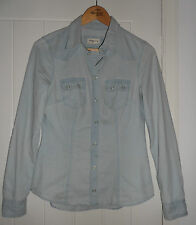 H&M Light Blue Denim Shirt in Size 8 *IN EXC COND*