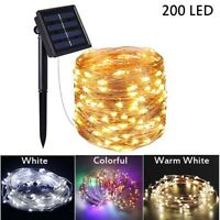 200LED Outdoor Solar String Lights Copper Wire String Light Waterproof Decor USA