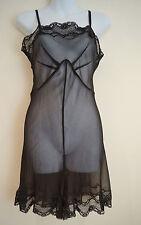 BY MALENE BIRGER Silk Black Lingerie Nightwear All In One Teddy Shorts UK10 BNWT