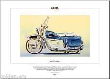 Ariel leader-Moteur Cycle Fine Art Imprimé - 250cc twin avec écran & legshields