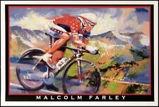 "Malcolm Farley ""Colorado Cycling Finish"" Biker Poster Make an Offer!"