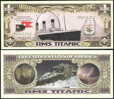 RMS TITANIC MEMORIAL MILLION DOLLAR NOVELTY BILLS - LOT OF 2 BILLS