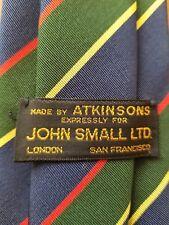 "Vtg., Atkinsons Argyle & Sutherland Highlanders, Irish Poplin, Striped Tie (59"")"