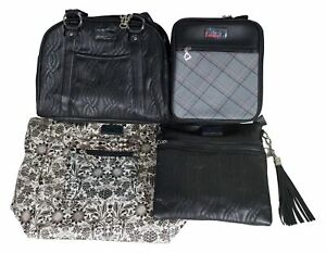 New LOT O4 4 BELLA RUSSO HANDBAGS Leather / Quilted / Insulated Crossbody Purses