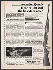 1974 REMINGTON 760 Gamemaster M/760 ADL RIFLE AD Firearms ADVERTISING
