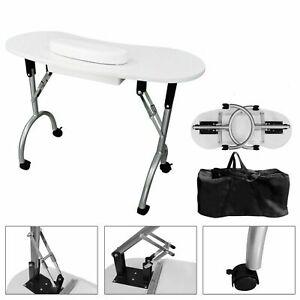 Foldable Portable Manicure Nail Art Table Hand Drawer Cushion Bag Desk Station