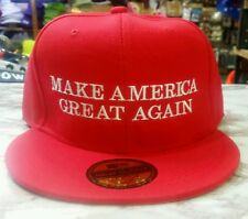 Trump Make America Great Again 2016 Red Flat Brim Peak Cap Snapback Hat