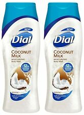 2 Bottles Dial 21 Oz Coconut Milk Up To 12hr Moisturizing Body Wash
