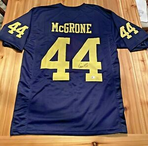 Cameron McGrone Autographed Michigan Wolverines Jersey Beckett Witnessed COA