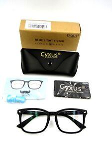 Cyxus 8082 Unisex Blue Light Blocking Computer Glasses Gaming Glasses, Black NEW