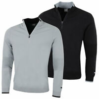 Puma Golf Mens Evoknit 1/4 Zip Ribbing Breathable Sweater 49% OFF RRP