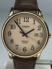 Timex Indiglo Men's Watch Brown Leather Band Water Resistant