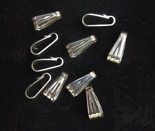 Snap On Bails Lot of 10 Sterling Silver 9.4mm x 2.5mm