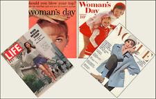 4 Miniature '1960's'  Magazines Barbie Blythe Fashion Doll size 1:6 playscale