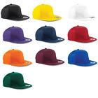 Beechfield SNAPBACK CAP FLAT PEAK HAT HIP HOP BASEBALL RETRO MEN UNISEX NEW B610