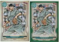 2020 Topps Gypsy Queen Gerrit Cole Green & Base new York Yankees
