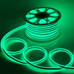 WYZworks Green Flexible Waterproof Soft Double Sided LED Neon Rope Light Strip