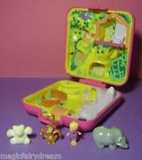 Polly Pocket Mini ♥ Zoo World ♥ 100% Komplett ♥ mit Polly u. 3 Tieren ♥ 1989 ♥
