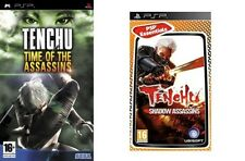tenchu time of the assassins USED  &  tenchu shadow assassins new&sealed psp pal