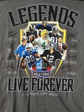 Pro Football Hall of Fame Class of 2016 T-Shirt sz L Tony Dungy Brett Favre