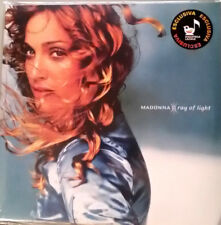 MADONNA - RAY OF LIGHT-  BLUE VINYL - ITALIAN EDITION WITH RARE STICKER SEALED!!