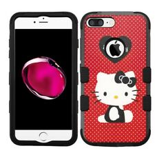 for iPhone 8 Plus Rugged Rubber+Hard Hybrid Case Hello Kitty #RPP