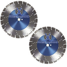 "2Pck 18"" All Purpose Diamond Saw Blades Concrete, Asphalt, & Granite, 20MM Arbor"