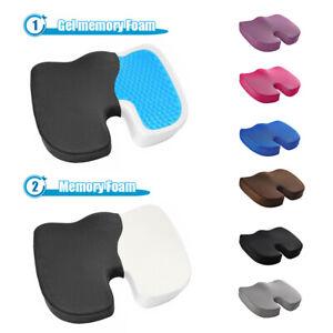 Memory Foam Gel Enhanced Seat Cushion Coccyx Cushion Orthopedic Chair Pad Office