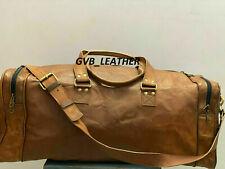 Travel Big Duffel Luggage Leather extra large Bag Overnight Genuine Men Vintage