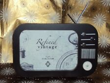 NEW..VINTAGE,RETRO Style TV Set PHOTO FRAME  ..Perfect Gift..Milestone Birthday!