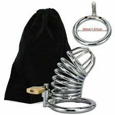 Stainless Steel Male Chastity Device Belt Bird Cage Lock cock restraint Ring US