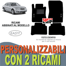PER MERCEDES CLASSE E W211 TAPPETI AUTO MOQUETTE E FONDO GOMMA + 2 RICAMI EASY