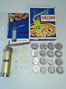 * Vintage SAWA 2000 Deluxe Cookie Biscuit Press and Decorator Gun Made in Sweden