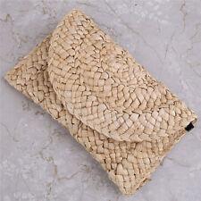 Bohemia Beach Bag for Women Summer Straw Knitted Handbag Messenger Bag Clutch