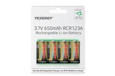 Tenergy RCR123A 3.7 Volt 650mAh Li-ion Batteries (4-Pack) (ARLO Certified)