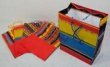 Gift Bag Set ~ CASE LOT 12 SETS of 5 Re-usable Bags For Birthdays/All Occasions