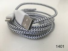 Strong Braided iPhone iPad USB Data Sync Charger Cable Lead White 2M