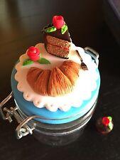 Barattolo Dolci Biscotti Spezie Maxwell Williams Decorato Con Miniature In Fimo
