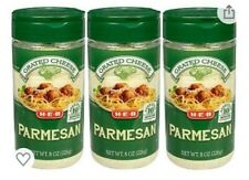 H-E-B Parmesan Cheese 3 Pack.  Grated 8oz Bundle.