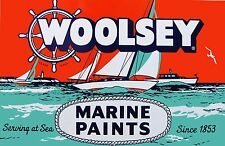 Woolsey Marine Paint vintage High Quality Metal Magnet 2.5 x 4 inches 9296