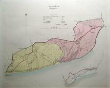 HASTINGS, St.LEONARDS, EAST SUSSEX Street Plan, Dawson original antique map 1832