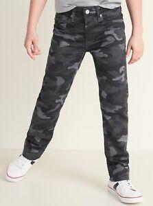 Old Navy Boys Karate Built-In Flex Max Five-Pocket Camo Pants Size 6 10 14 16