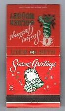 Golden Nugget Seasons Greeting Front Striker Vintage Matchbook Las Vegas Nevada