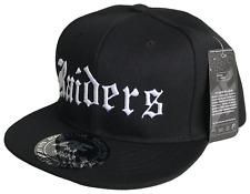 Raiders Black White Flat Bill Snapback Cap Caps Hat Hats Oakland Los Angeles LA