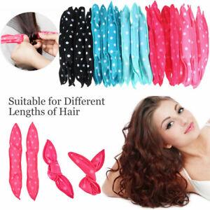20PC Hair Rollers Soft Foam No Heat Hair Roller Curler Sleep Pillow Satin Sponge