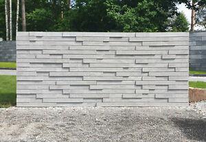 Garden Retaining Wall Concrete Hollow Blocks Multicolors Morden 3D Fence